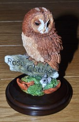 Country Artists Tawny Owl miniature